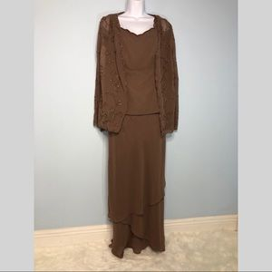 New Alfred Angelo Dress Mocha Sz 10